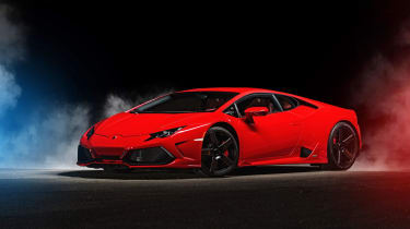 The Lamborghini Huracan is the company's cheapest car, at £155,000 – though the four-wheel drive version is more