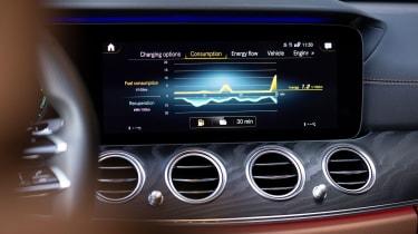Mercedes E-Class E 300 e hybrid - infotainment