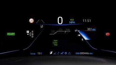 Toyota Mirai saloon digital instruments