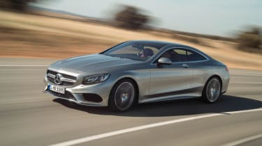 Mercedes S-Class coupe front quarter tracking