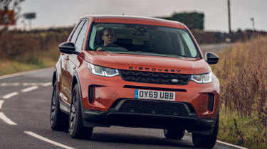Land Rover Discovery Sport front driving