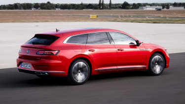 2020 Volkswagen Arteon Shooting Brake estate -hybrid rear 3/4 view