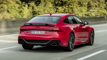 Audi RS7 driving - rear spoiler up