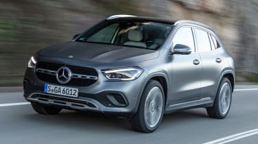 2020 Mercedes GLA front 3/4 tracking