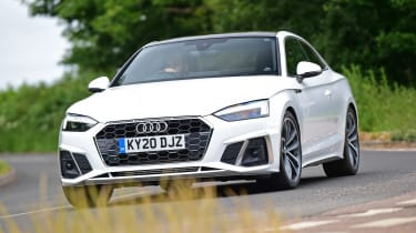 Audi A5 Coupe front cornering