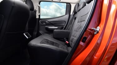 Mitsubishi L200 pickup rear seats
