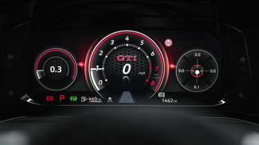 Volkswagen Golf GTI hatchback digital instruments
