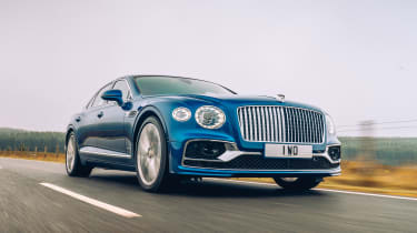 Bentley Continental Flying Spur saloon front tracking