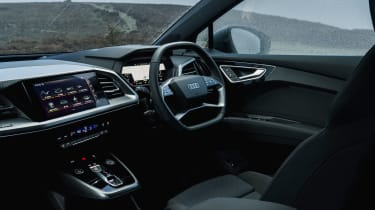Audi Q4 e-tron SUV dashboard