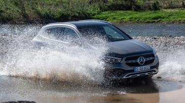 Mercedes GLA SUV water splash