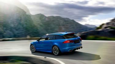 Jaguar XFR-S Sportbrake rear cornering