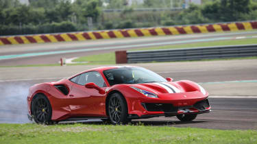 Ferrari 488 Pista drift