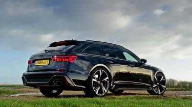 Audi RS6 Avant estate rear 3/4 static