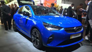 2020 Vauxhall Corsa-e - static 3/4 view at the Frankfurt Motor Show
