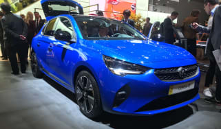 2020 Vauxhall Corsa-e - static 3/4 view at the Frankfurt Motor Show