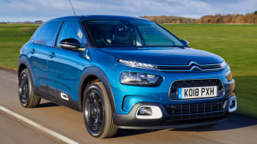 The Citroen C4 Cactus fits in the range above the Citroen C3 Aircross.