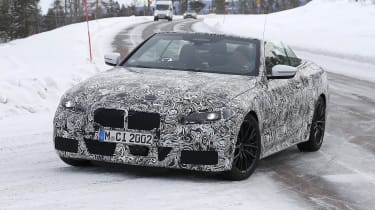 BMW 4 Series Convertible prototype with roof down