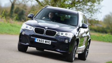 Take a corner in the BMW X3 and there's hardly any body lean, particularly in the M Sport versions with sharper suspension