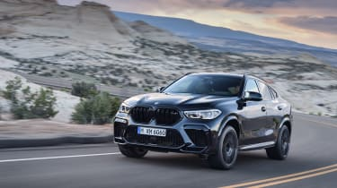 BMW X6 M Competition driving