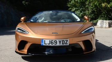 McLaren GT front end view