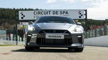 The GT-R is easy to drive quickly because of the all trick technology helping you out, which may not appeal to purists.