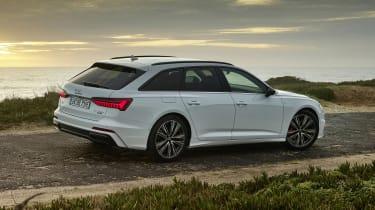 Audi A6 Avant plug-in hybrid side/rear view