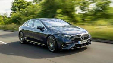 Mercedes EQS hatchback front 3/4 dynamic