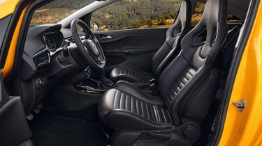 Vauxhall Corsa GSI fron seats
