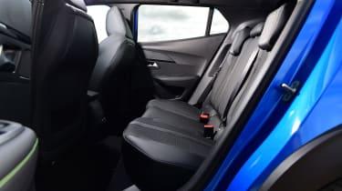 Peugeot e-2008 SUV rear seats