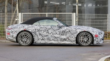 2021 Mercedes SL in camouflage - side view