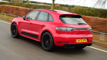 Porsche Macan SUV rear 3/4 tracking