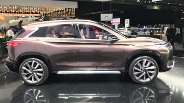 Side on the QX50 Concept is a far more dynamic looking car than its predecessor