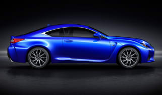 Lexus RC-F coupe 2014 side profile