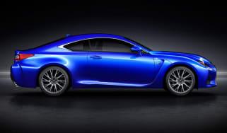 Lexus RC-F coupe 2014 side profile