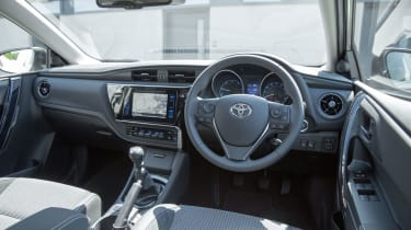 The dashboard has the design flair of the Ford Focus and the quality of the VW Golf