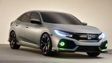 The production Honda Civic remains faithful to the pre-production show car.