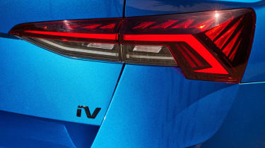 2020 Skoda Octavia vRS iV Estate tail-light and iV badge