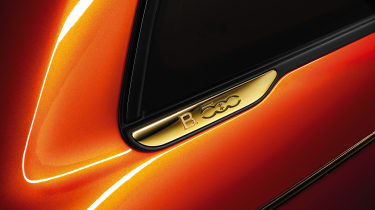 2020 Fiat 500 electric Bvlgari - rear quarter badge