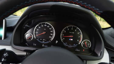 Sports gauges look clear, but the lack of a digital instrument cluster means the X6 is starting to show its age