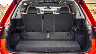 Third row seats fold into the floor on seven-seat models - but the boot is still smaller than the five-seat version.