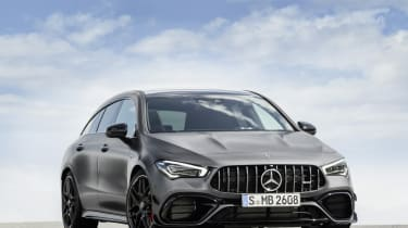 2019 Mercedes-AMG CLA 45 S Shooting Brake - close up front static