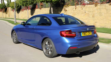 Even the BMW 240i can return 36mpg - not bad given its huge performance