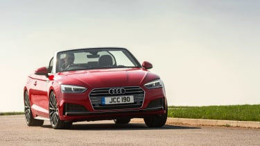 Audi has made the headlights more striking for the latest A5 Cabriolet, and the grille is more of a styling feature too.
