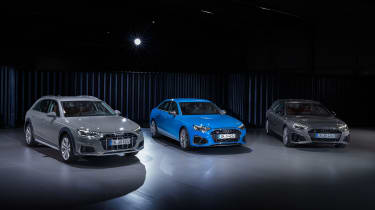 Facelifted Audi S4 saloon, A4 Avant estate and A4 Allroad