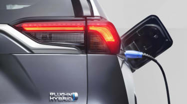 Toyota RAV4 Plug-in Hybrid plugged in