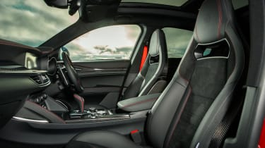 Alfa Romeo Stelvio Quadrifoglio SUV - interior and front seats