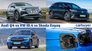Audi Q4 e-tron vs VW ID.4 vs Skoda Enyaq header