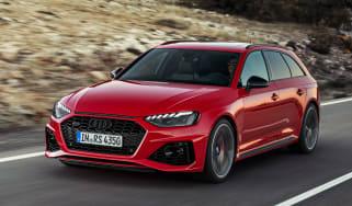 Audi RS4 Avant driving