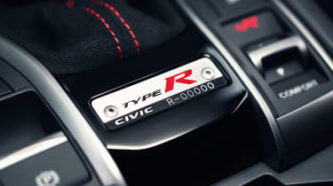 Honda Civic Type R Limited Edition numbered plaque