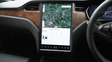 Tesla Model S - infotainment touchscreen